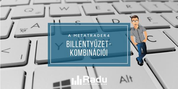 A MetaTrader4 billentyűzetkombinációi