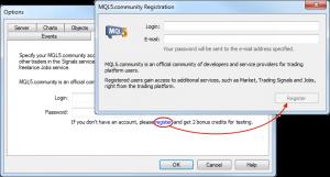 MQL5 Közösség regisztráció