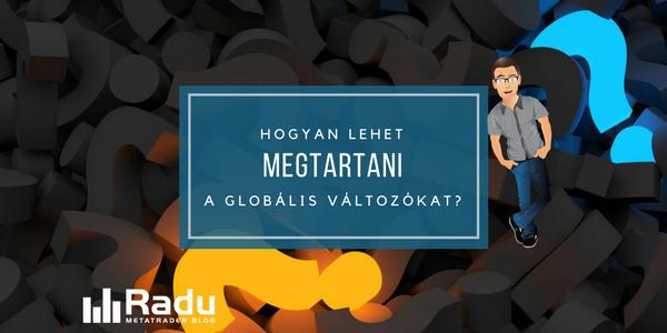 Hogyan lehet megtartani a globális változókat?