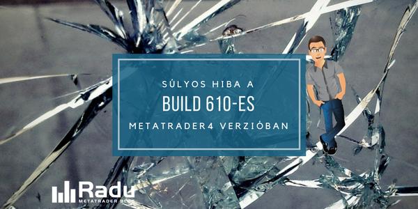Súlyos hiba a build 610-ben