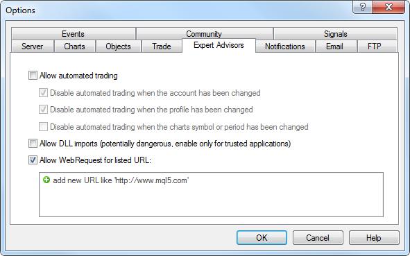WebRequest funkció beállítása