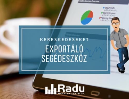 Kereskedéseket exportáló segédeszköz