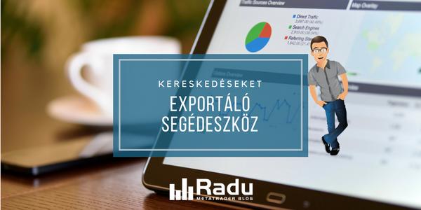 Kereskedéseket exportáló szkript