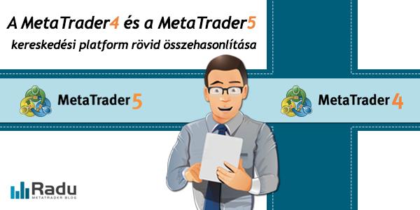 A MetaTrader4 és MetaTrader5 képességeinek összehasonlítása