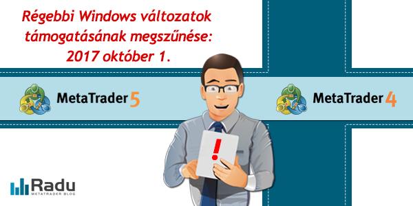 Régi Windows verziók támogatásának megszűnése