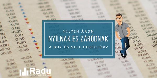 Milyen áron nyílnak és záródnak a buy és sell pozíciók?