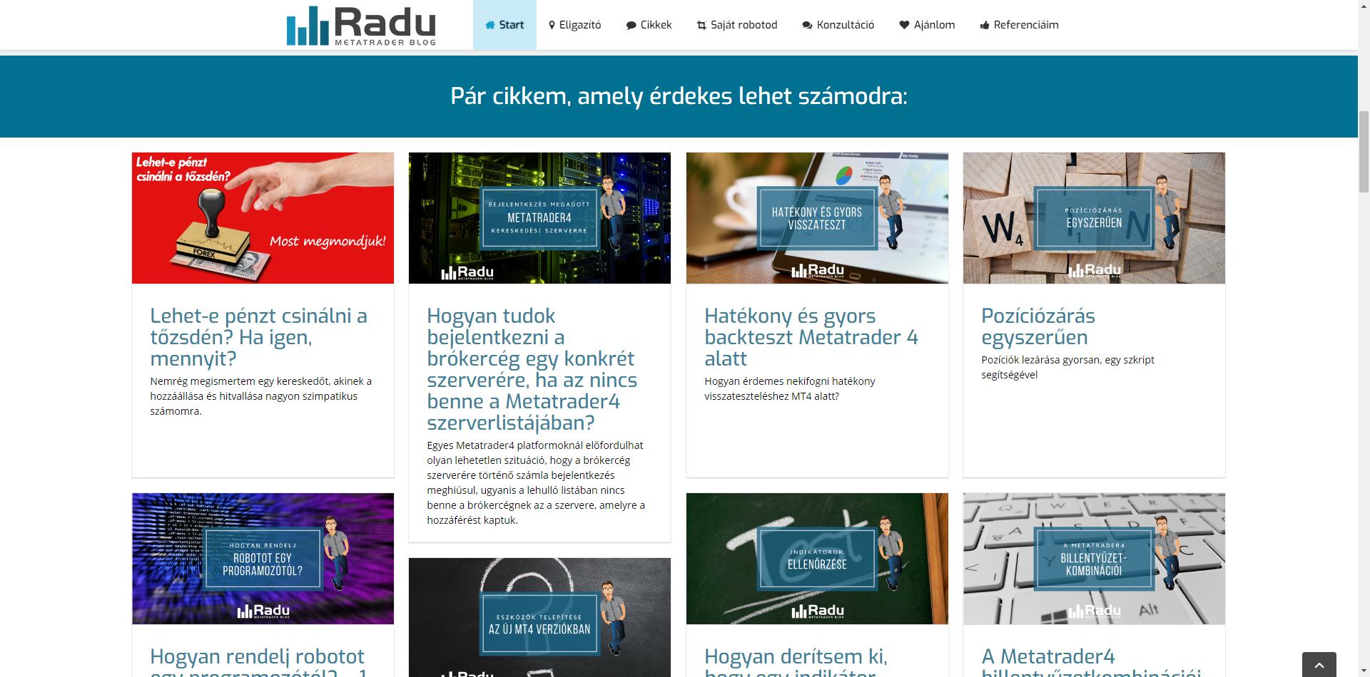 Radu.hu - régi kinézet