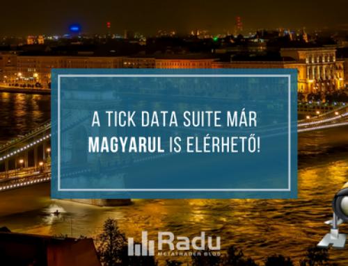 A Tick Data Suite már magyarul is elérhető!