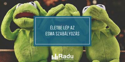 Életbe lép az ESMA szabályozás