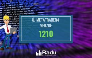 Új 1210-es MT4 build verzió