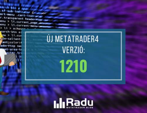 Új MT4 build bejelentve – 1210