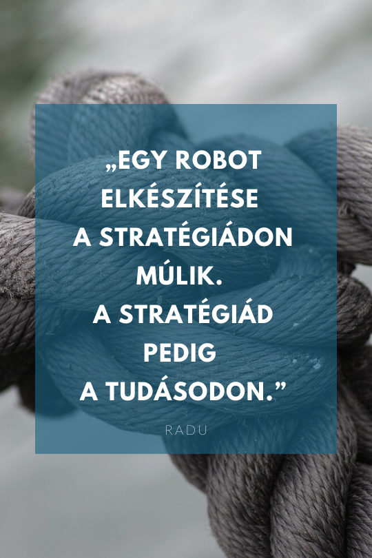 Egy robot elkészítése a stratégiádon múlik...