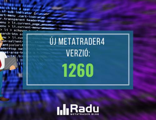Új MT4 build bejelentve – 1260