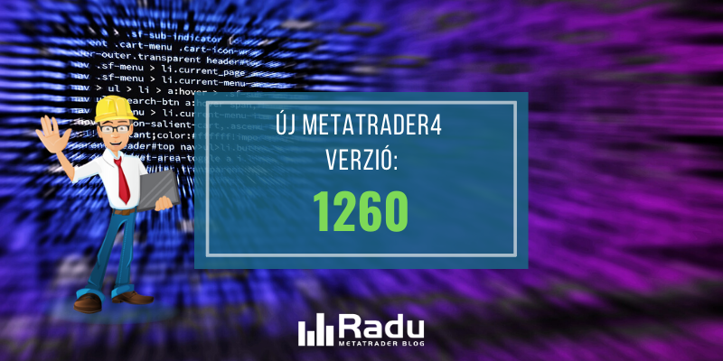 Új 1260-as MT4 build verzió