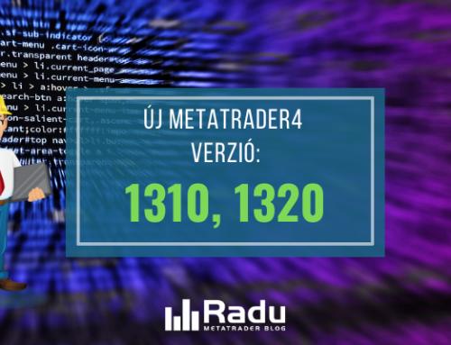 Új MT4 build bejelentve – 1310, 1320