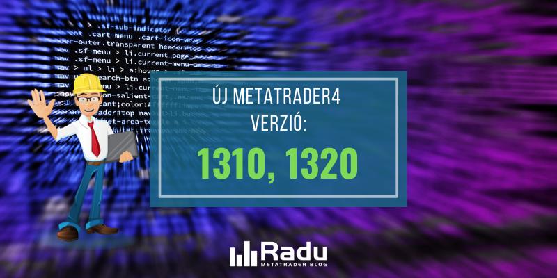 Új MetaTrader4 build jelent meg: 1320