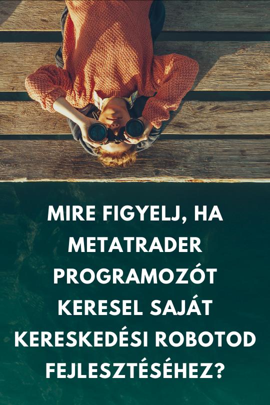 Mire figyelj, ha MetaTrader programozót keresel?